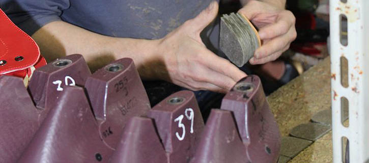 Manufacture of dance shoes