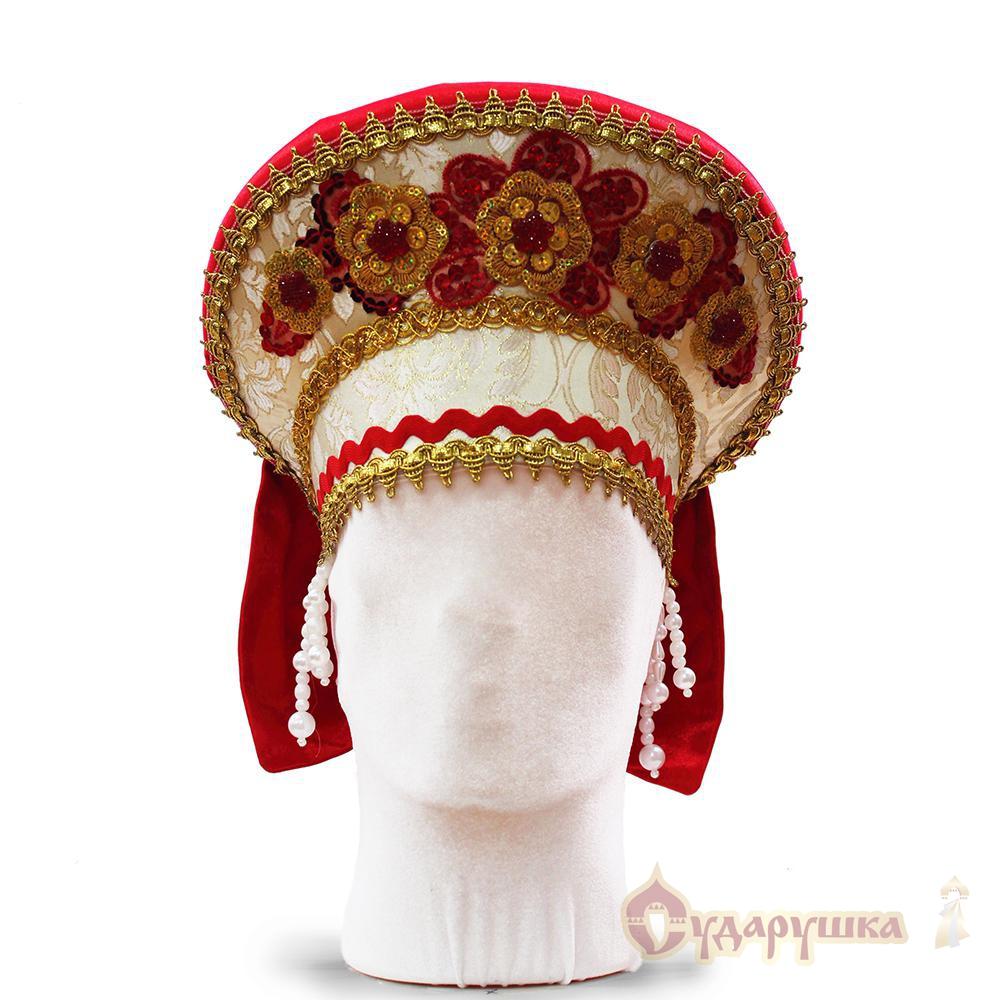 Сделать кокошник костюм русский своими руками6