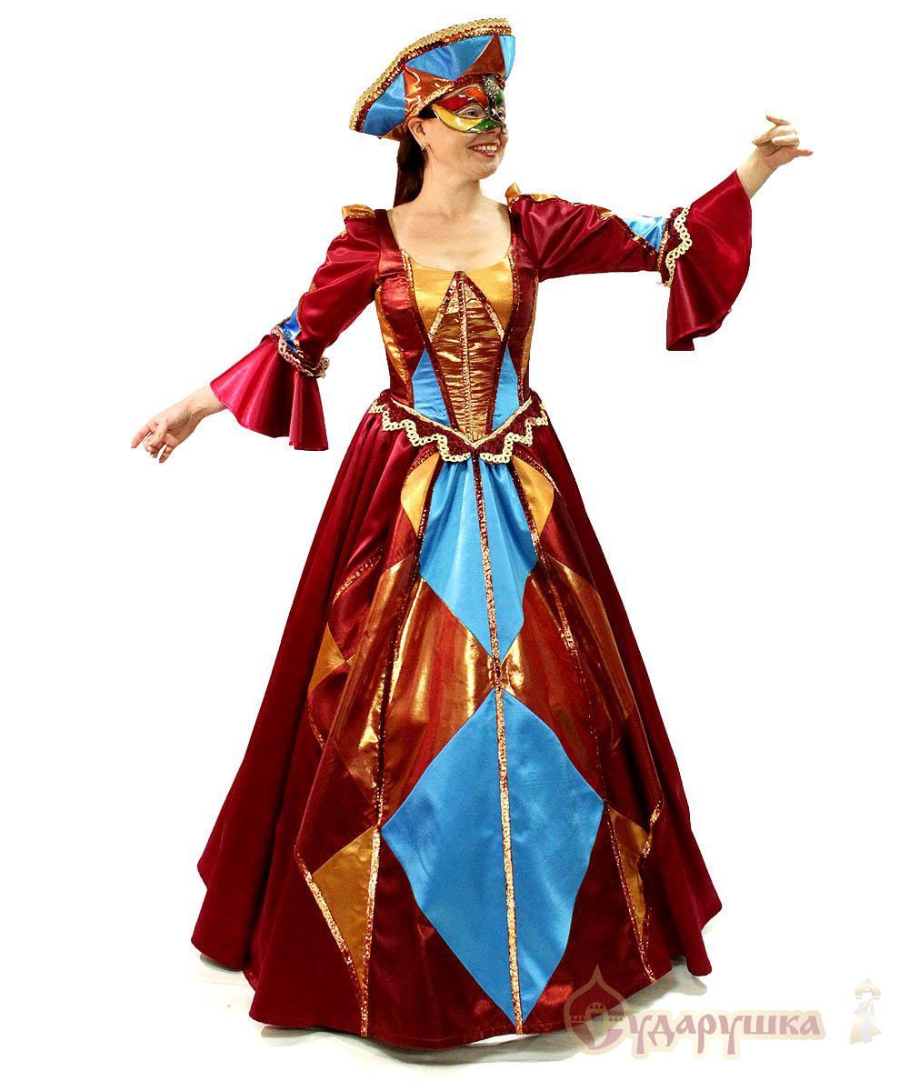 Карнавальный костюм «Коломбино» - Венецианский наряд - photo#48