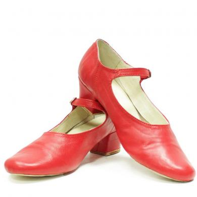 Women's Shoes for folk dances characteristic red