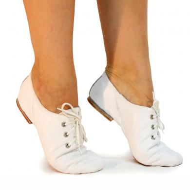 Jazz shoes white leather