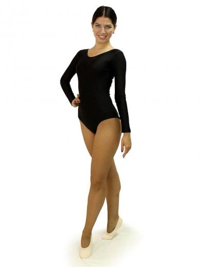 Leotard with long sleeves