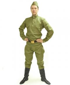 Male Russian military costume