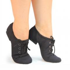 Jazz shoes black fabric